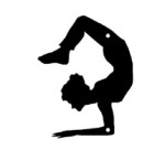 scorpion pose, silhouette